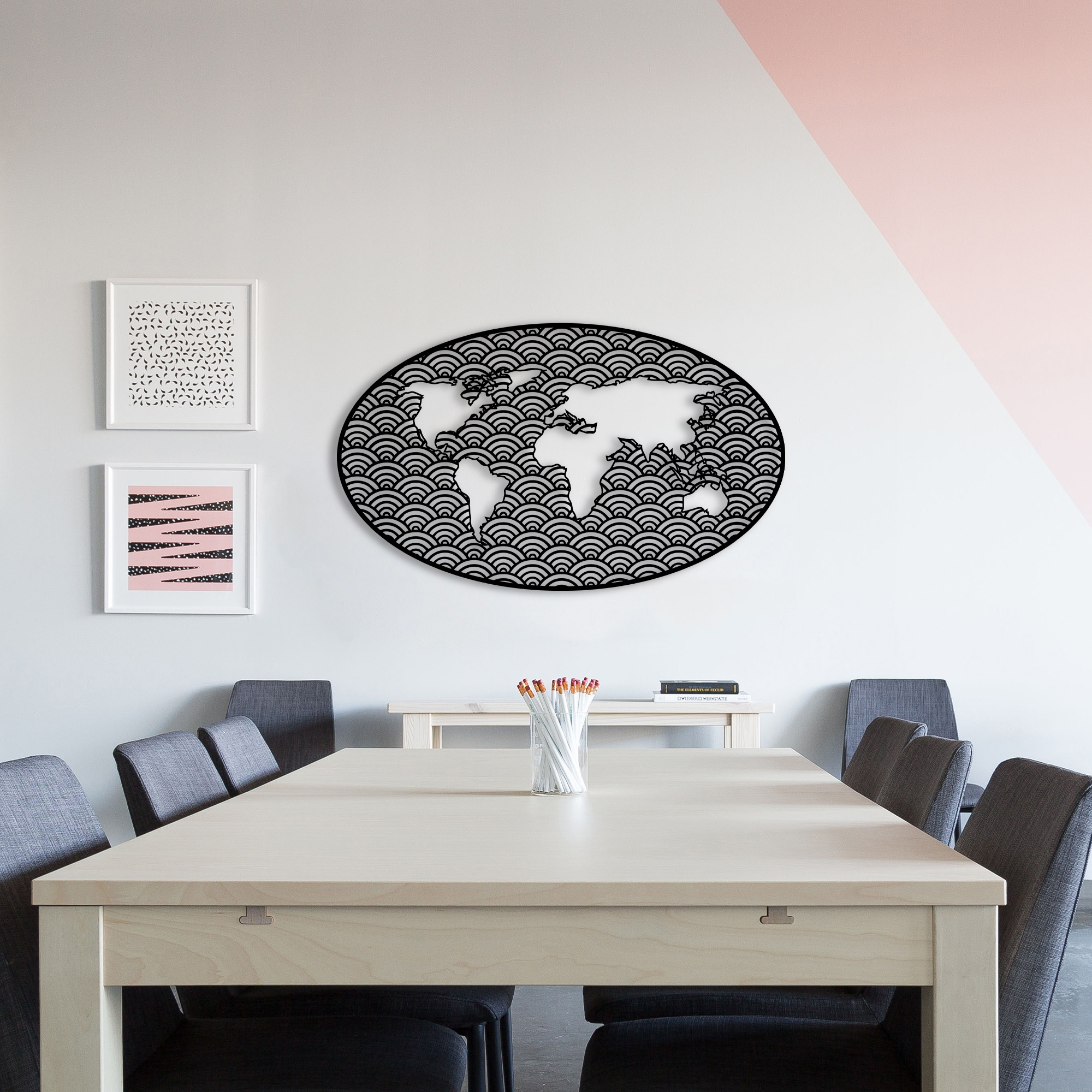 Tale Earth – Metal World Map