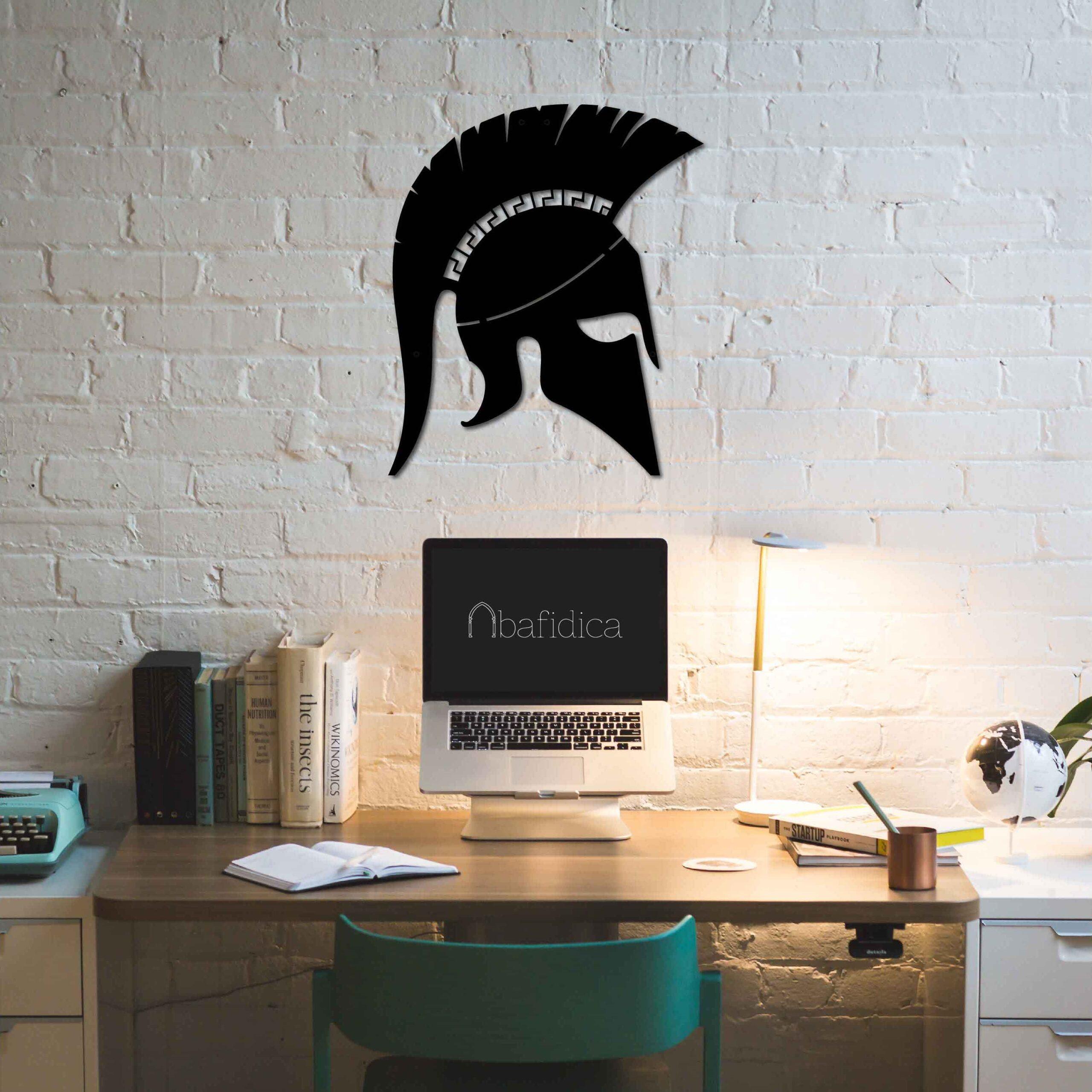 Spartan Helmet – Metal Tablo