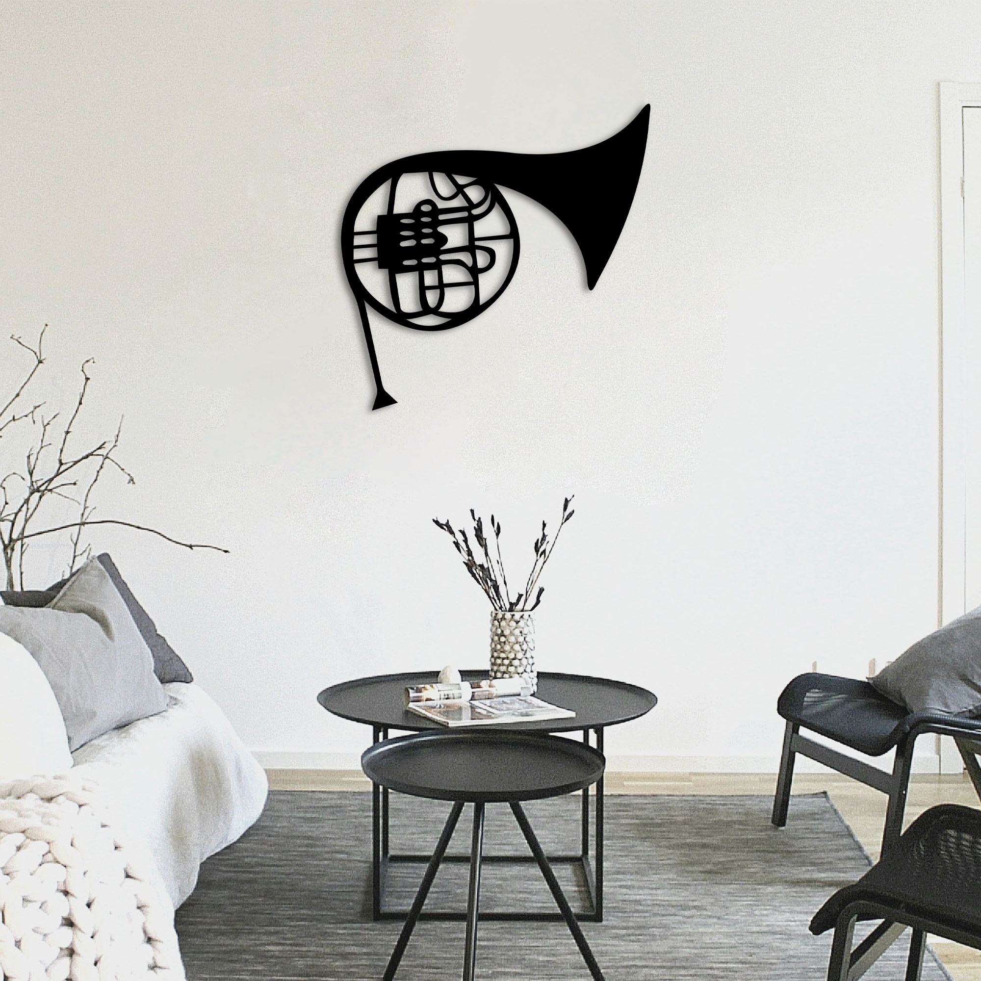 French Horn – Metal Tablo