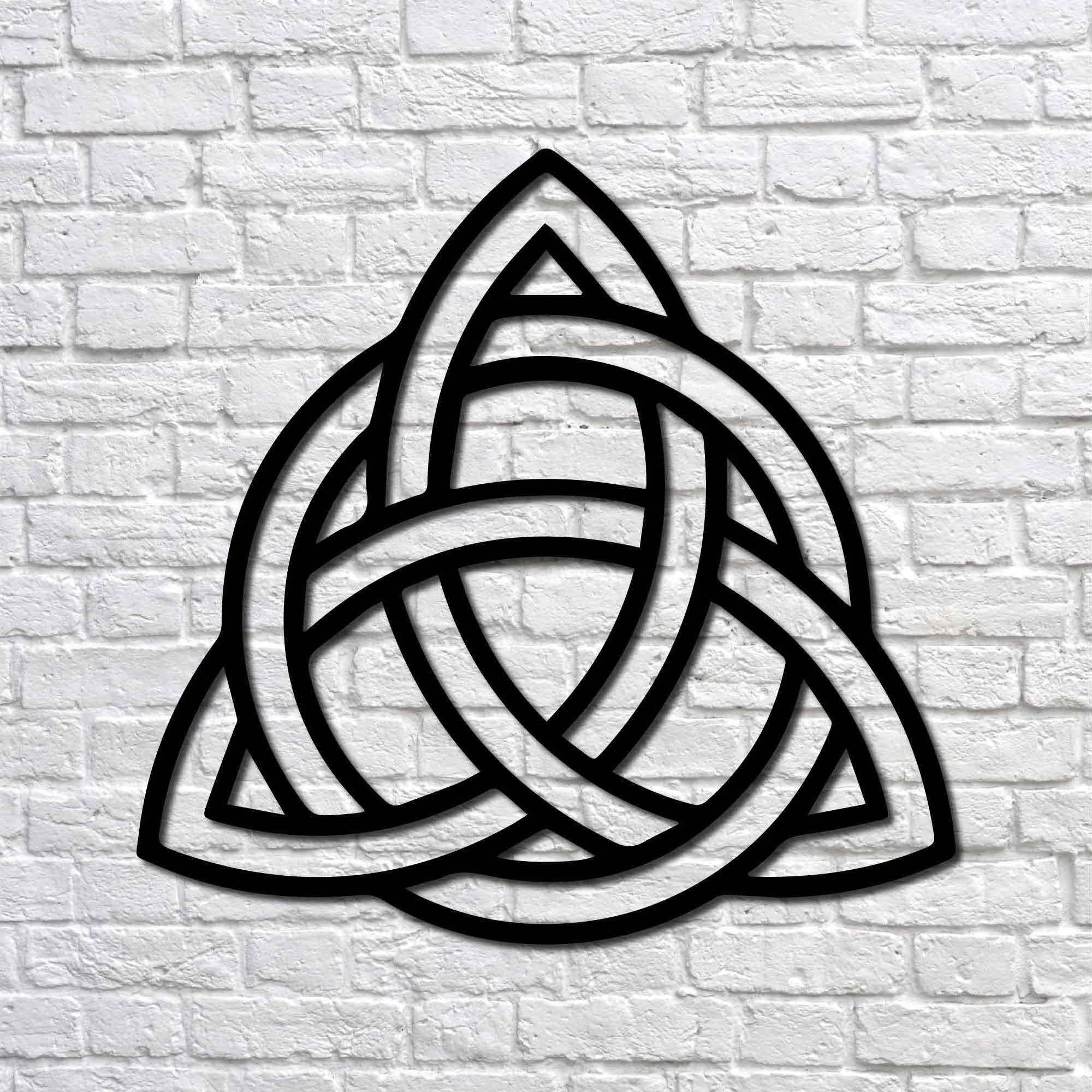 Trinity Knot II – Mini Metal Tablo