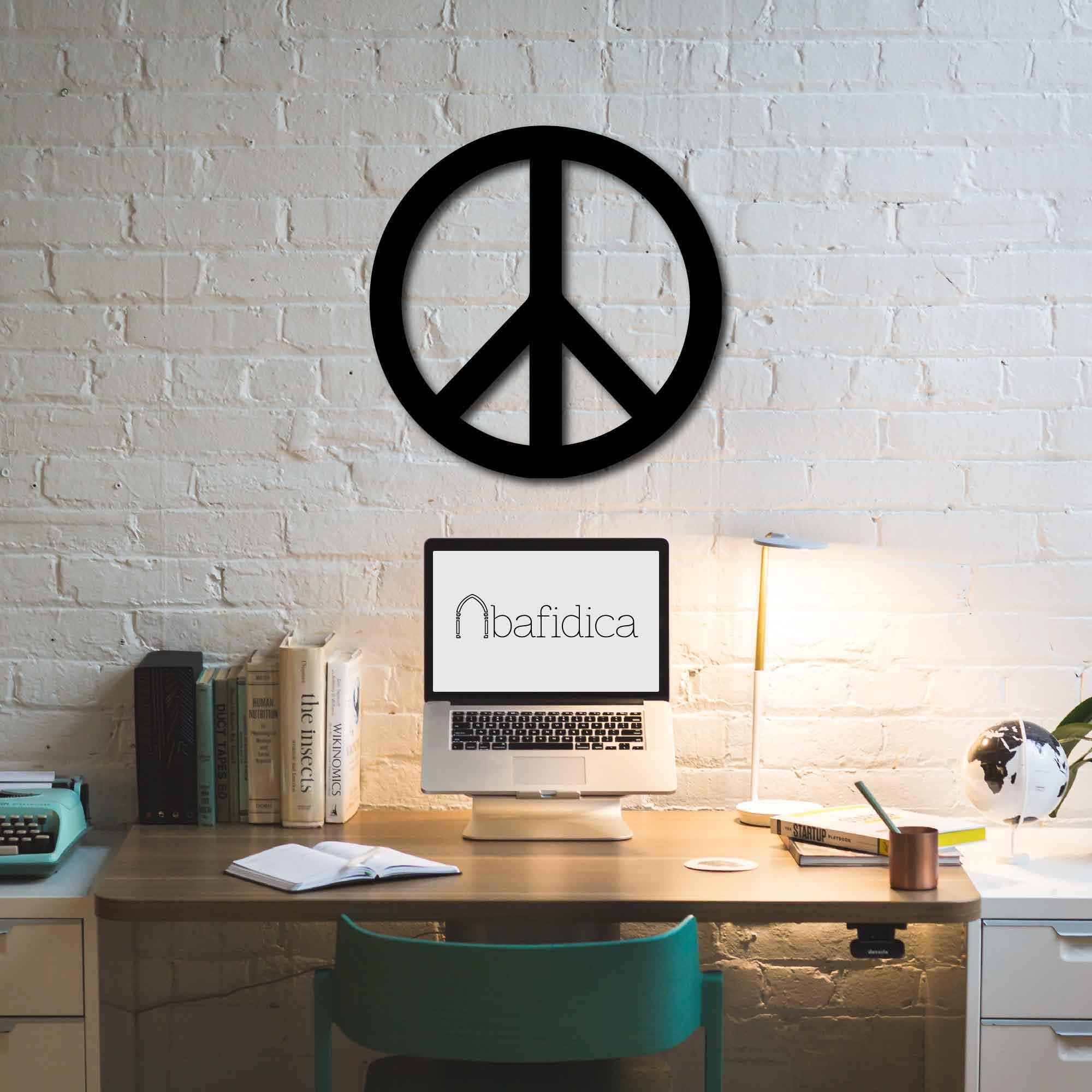 Peace Sign – Metal Tablo