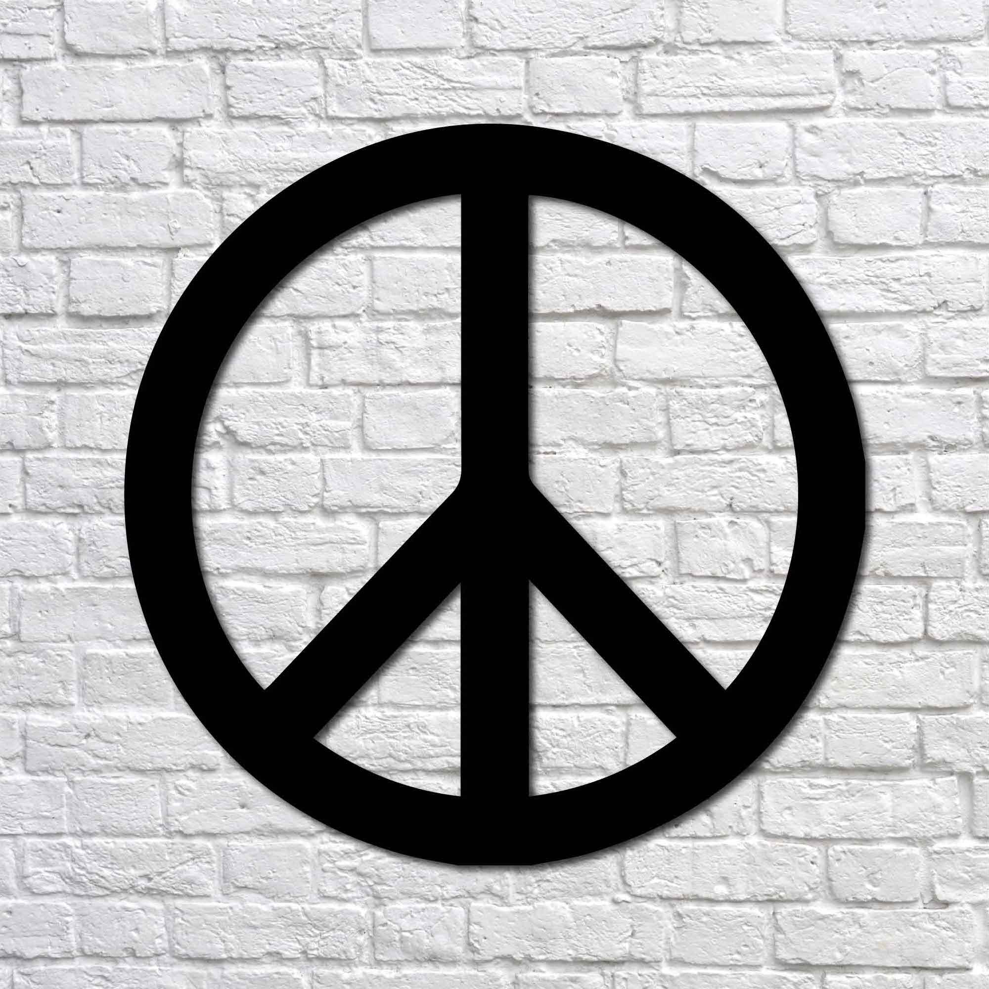 Peace Sign – Mini Metal Tablo