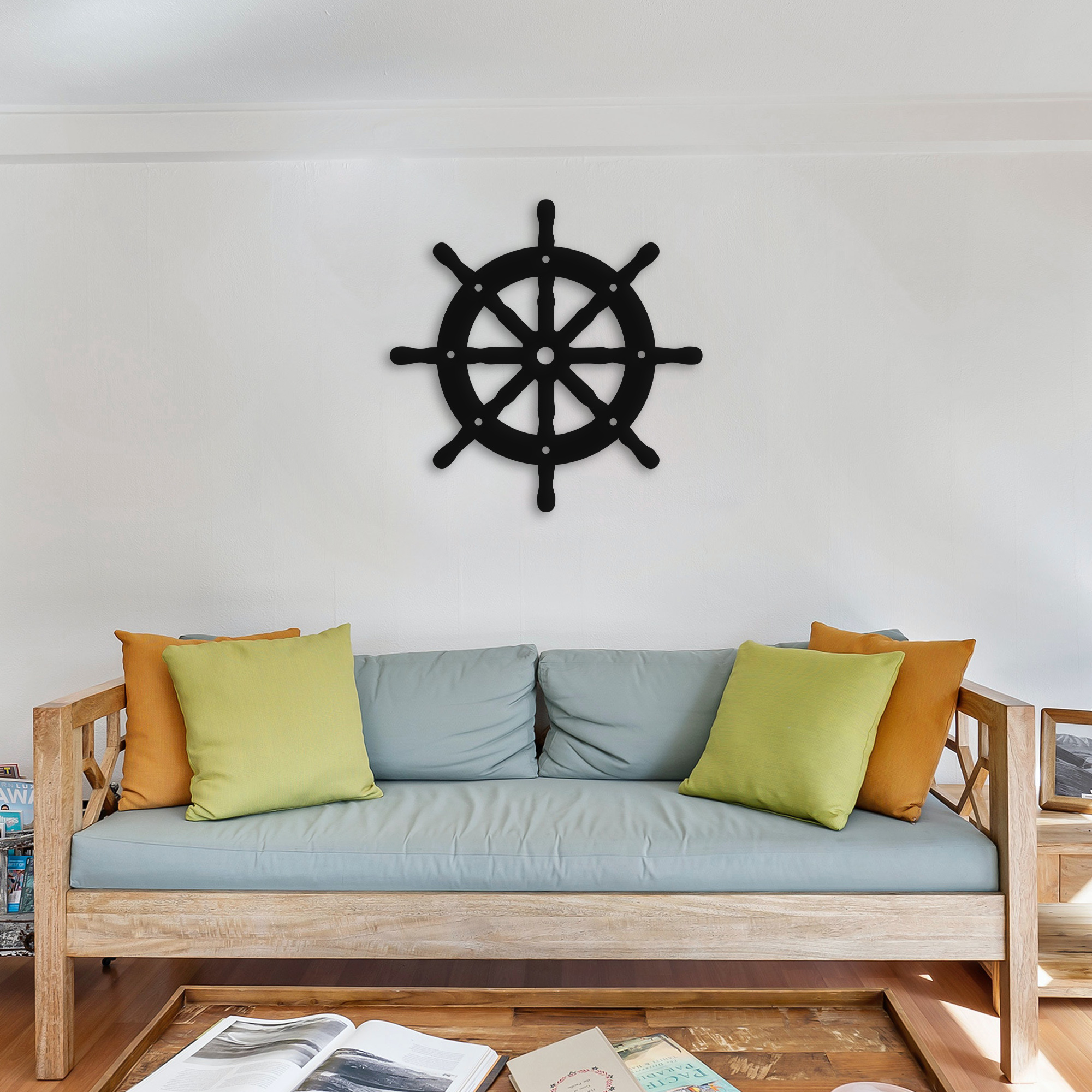 Ship Wheel  – Metal Tablo