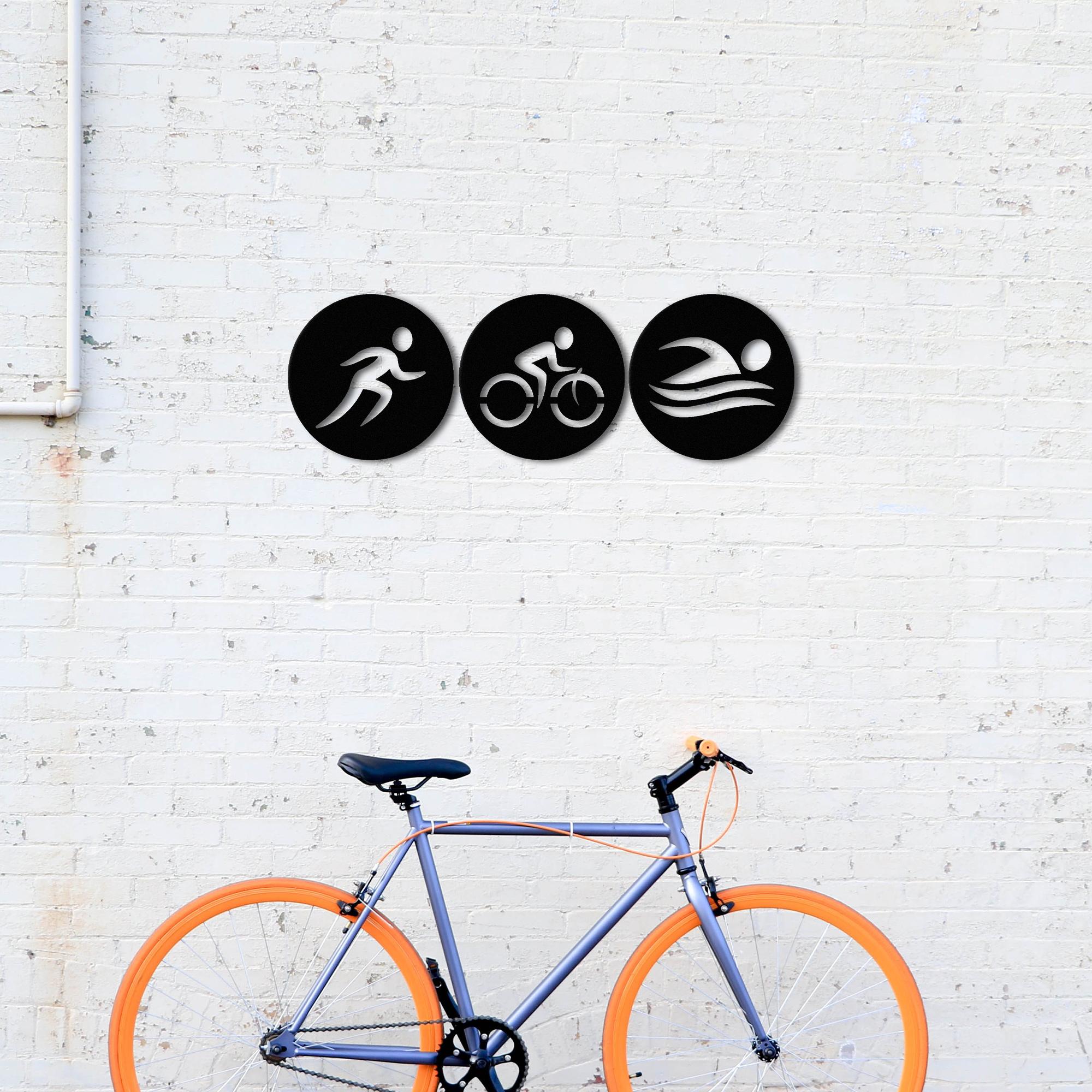 Triathlon – Metal Tablo Set