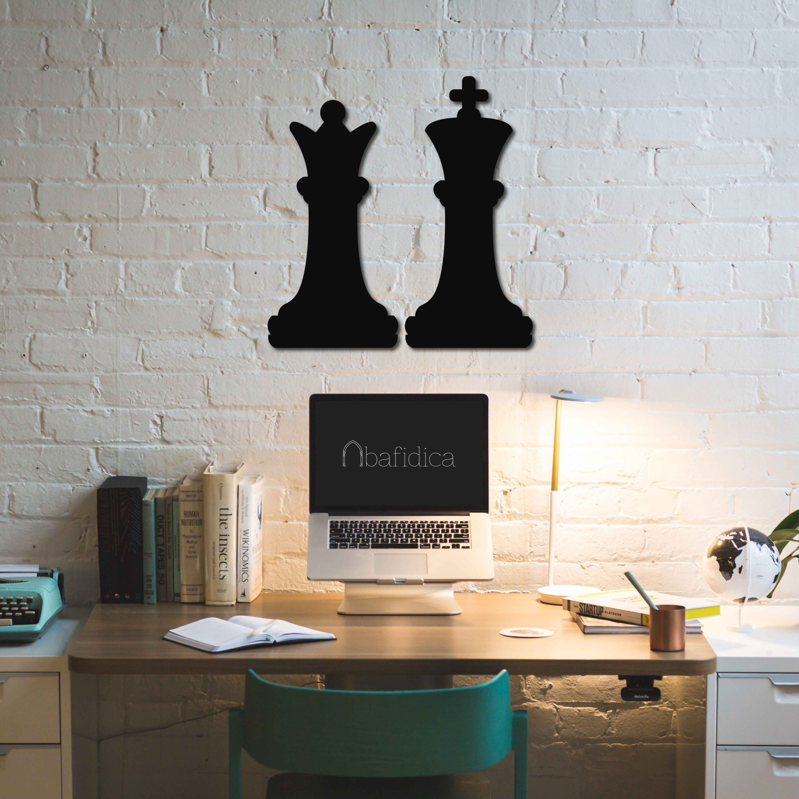 Chess King and Queen – Metal Tablo Set