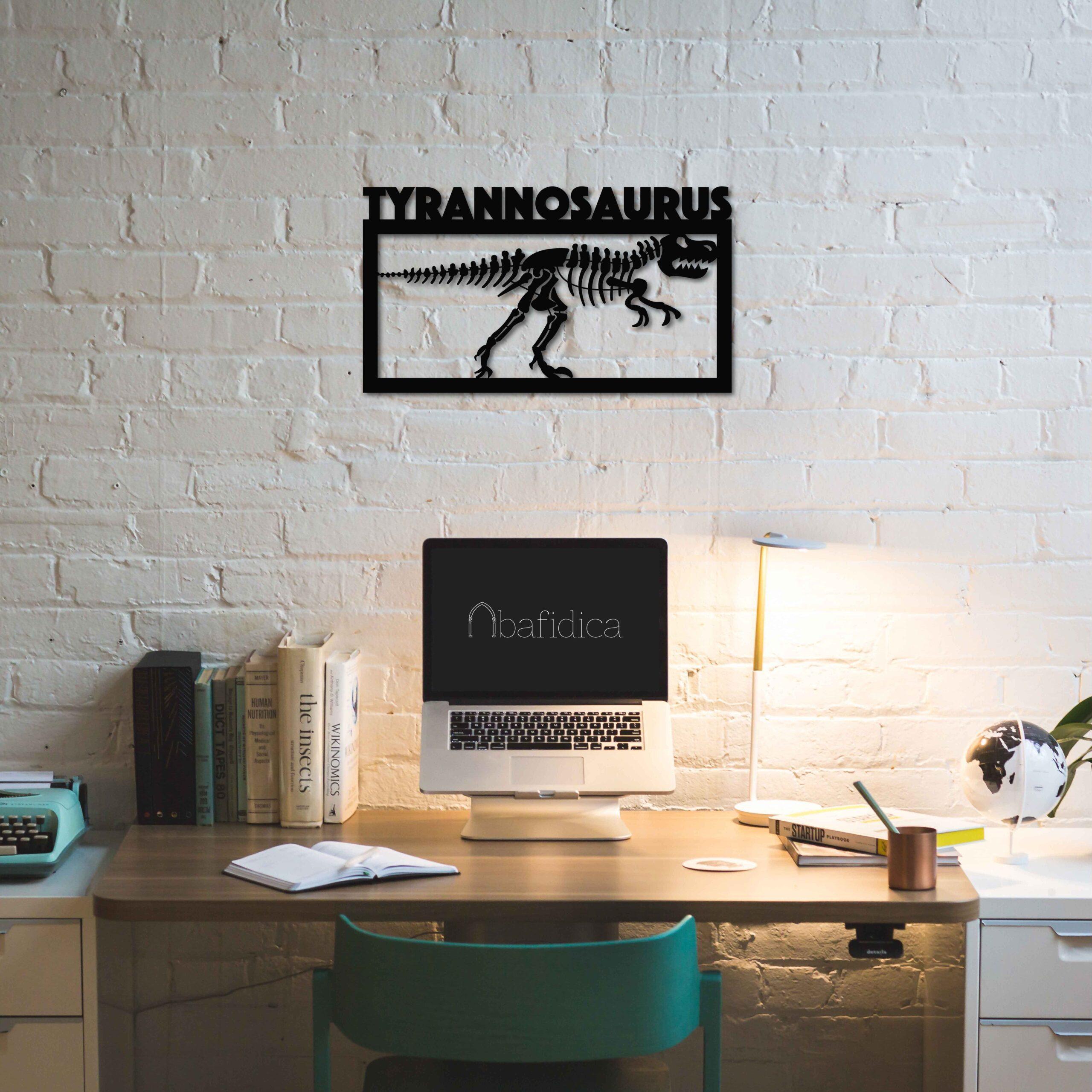 Tyrannosaurus Fossil – Metal Tablo