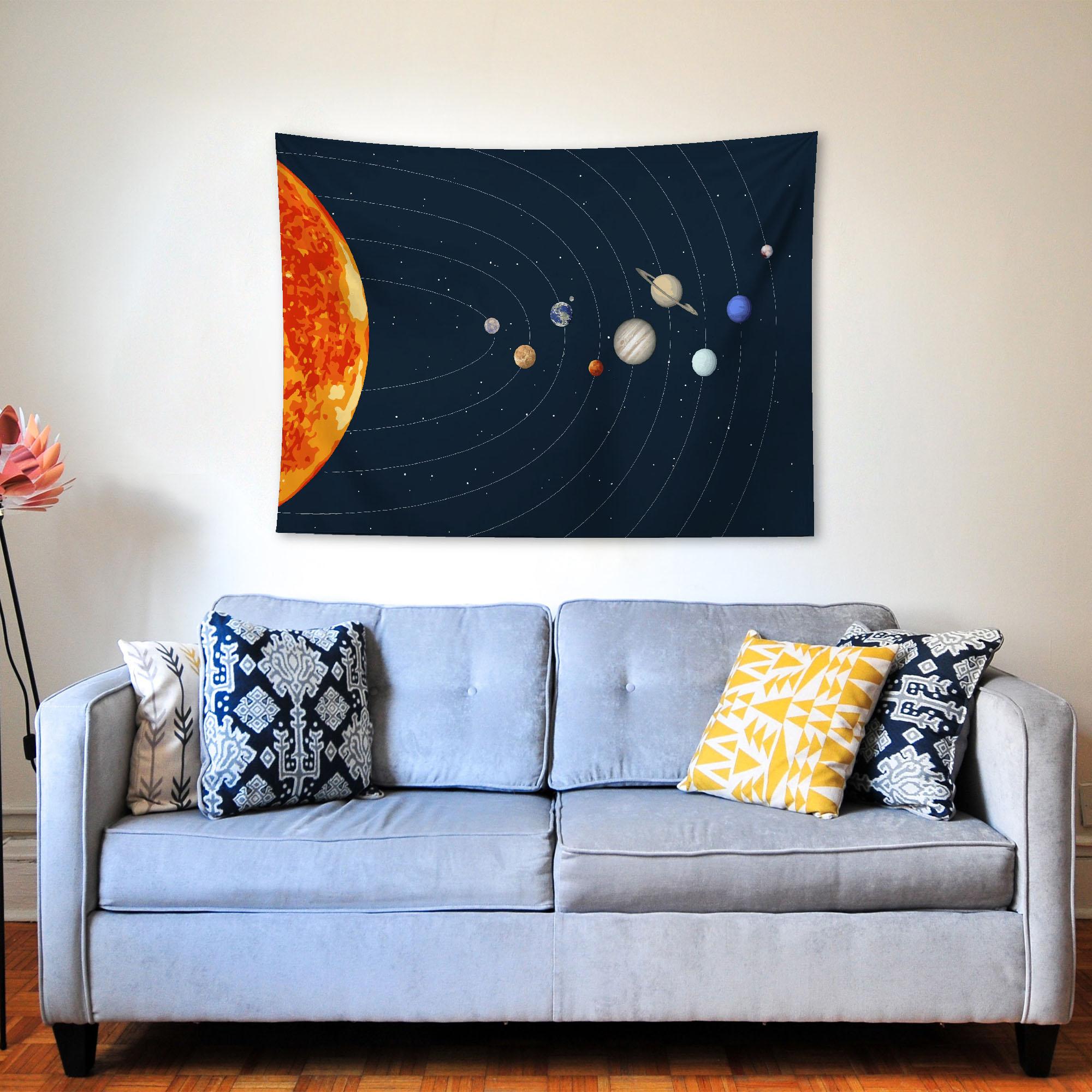 Güneş Sistemi Duvar Örtüsü