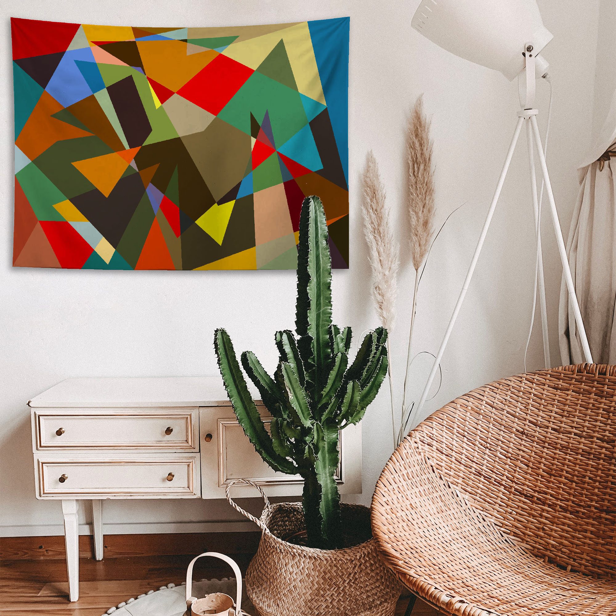 Abstact Renkler Duvar Örtüsü